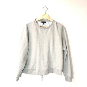 J. Crew medium gray button back sweatshirt